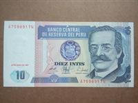 Image de Перу 1987 г. • 10 инти • регулярный выпуск • UNC пресс