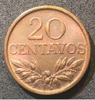 Image de Португалия 1970 г. KM# 595 • 20 сентавос • регулярный выпуск • MS BU люкс! ( кат.- $3,00 )