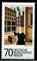 Image de Западный Берлин 1977 г. Mi# 551 • 70 pf. • 15-я Европейская выставка произведений искусства • картина Георга Гросса • MNH OG XF ( кат.- €1,2 )