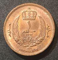 Изображение Ливия 1952 г. KM# 1 • 1 миллим • король Идрис I • регулярный выпуск • MS BU люкс!