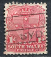 Bild von Австралия • Новый Южный Уэльс 1905-1910 гг. Gb# 334 • 1 d. • герб страны • стандарт • Used VF