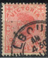 Bild von Австралия • Виктория 1901-1910 гг. Gb# 385ba • 1 d. • Королева Виктория • Used XF