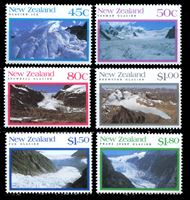 Bild von Новая Зеландия 1992 г. SC# 1104-9 • 45 c. - 1.80$ • Ледники • MNH OG XF • полн. серия ( кат.- $10 )