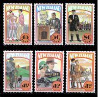 Bild von Новая Зеландия 1992 г. SC# 1133-8 • 45 c. - 1.80$ • История развития страны • 1920-е годы • MNH OG XF • полн. серия ( кат.- $10 )