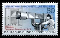 Изображение Западный Берлин 1985 г. Mi# 741 • 80 pf. • Международная выставка связи • телекамера • MNH OG XF ( кат.- €2,4 )