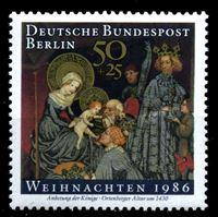 Изображение Западный Берлин 1986 г. Mi# 769 • 50 + 20 pf. • Рождество • благотворительный выпуск • MLH OG XF ( кат.- €1,2 )