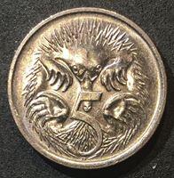 Image de Австралия 1996 г. KM# 80 • 5 центов • Елизавета II • утконос • регулярный выпуск • MS BU ( кат.- $3,00 )