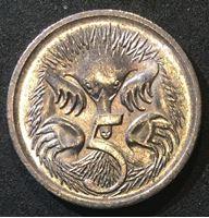 Image de Австралия 2000 г. KM# 401 • 5 центов • Елизавета II • утконос • регулярный выпуск • MS BU ( кат.- $3,00 )