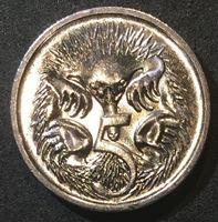 Image de Австралия 2006 г. KM# 401 • 5 центов • Елизавета II • утконос • регулярный выпуск • MS BU ( кат.- $3,00 )