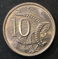 Image de Австралия 1976 г. KM# 65 • 10 центов • Елизавета II • Птица лирохвост • регулярный выпуск • MS BU люкс! ( кат.- $4,00 )