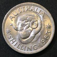 Изображение Австралия 1963 г. • KM# 59 • 1 шиллинг • серебро • Елизавета II • баран • регулярный выпуск • MS BU люкс!
