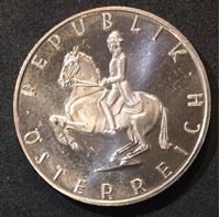 Bild von Австрия 1965 г. • KM# 2889 • 5 шиллингов • серебро • регулярный выпуск • MS BU • пруф