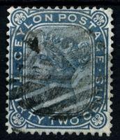Изображение Цейлон 1872-1880 гг. Gb# 128 • 32 c. • Королева Виктория • (перф. - 14 • в.з. - СС) • стандарт • Used XF ( кат.- £15 )
