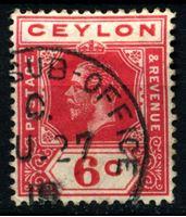 Picture of Цейлон 1912-1925 гг. Gb# 309 • 6 c. • Георг V • стандарт • Used XF
