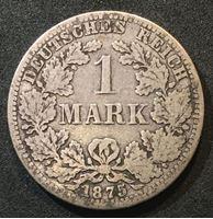 Picture of Германия 1875 г. А (Берлин) • KM# 7 • 1 марка • (серебро) • Имперский орел • регулярный выпуск • F+