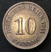 Изображение Германия 1911 г. А (Берлин) • KM# 12 • 10 пфеннигов • регулярный выпуск • AU