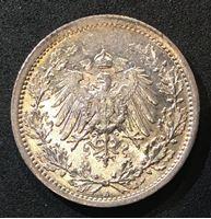 Bild von Германия 1915 г. А (Берлин) • KM# 17 • 1/2 марки • (серебро) • регулярный выпуск • MS BU люкс!
