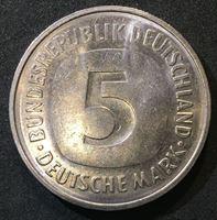 Picture of Германия ФРГ 1975 г. D (Мюнхен) • KM# 140.1 • 5 марок • регулярный выпуск • MS BU люкс!
