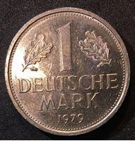 Bild von Германия ФРГ 1979 г. D (Мюнхен) • KM# 110 • 1 марка • регулярный выпуск • MS BU