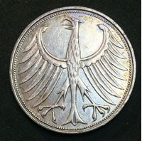 Bild von Германия ФРГ 1964 г. • F (Штутгарт) KM# 112.1 • 5 марок • серебро • регулярный выпуск • AU+ ( кат.- $60,00 )