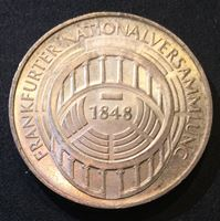 Bild von Германия ФРГ 1973 г. • G (Карлсруэ) KM# 137 • 5 марок • 125-летие парламента Франкфурта • памятный выпуск • MS BU люкс!