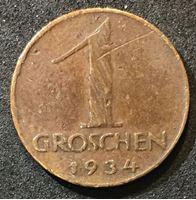 Изображение Австрия 1934 г. • KM# 2836 • 1 грош • орел • регулярный выпуск • VF-