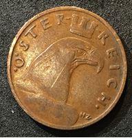 Изображение Австрия 1934 г. • KM# 2836 • 1 грош • орел • регулярный выпуск • XF+