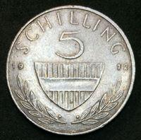 Изображение Австрия 1972 г. • KM# 2889a • 5 шиллингов • всадник • регулярный выпуск • AU ( кат.- $4,00 )