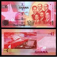 Изображение Гана 2010 г. P# 37b • 1 цеди • лидеры государства • регулярный выпуск • UNC пресс