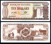 Изображение Гайана 1966-92 гг. P# 23f • 10 долларов • водопад • регулярный выпуск • UNC пресс