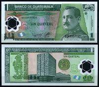 Bild von Гватемала 2011 г. P# • 1 кетсаль • генерал Хосе Мария Орельяна (пластик) • регулярный выпуск • UNC пресс