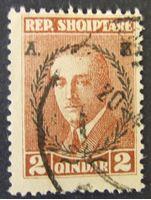 Image de Албания 1927 г. Mi# 152 • два года президенству А. Цогу • Президент Цогу • Used XF