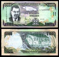 Изображение Ямайка 2007 г. P# 84e • 100 долларов • Водопады Даннс-Ривер • регулярный выпуск • UNC пресс ( кат. - $6 )