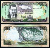 Bild von Ямайка 2007 г. P# 84e • 100 долларов • Водопады Даннс-Ривер • регулярный выпуск • UNC пресс ( кат. - $6 )