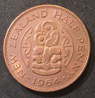 Picture of Новая Зеландия 1964 г. KM# 23.2 • полпенни • Елизавета II • регулярный выпуск • MS BU ( кат.- $3,00 )