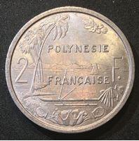Picture of Французская Полинезия 1965 г. • KM# 3 • 2 франка • год - тип • бухта и пальмы • регулярный выпуск • MS BU люкс!