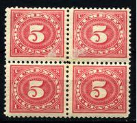 Изображение 1917 г. SC# R232 • 5 c. • для документов • фискальный выпуск • MNH OG F • кв.блок