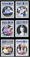 Bild von Британское содружество 1985 г. • 85-летие Королевы матери • 6 разных стран • MNH OG XF