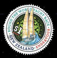 """Image de Новая Зеландия 1994 г. SC# 1198 • 1 $ • Кругосветная регата • яхта """"Эндевор"""" • Used XF ( кат.- $1,5 )"""