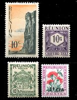 Bild von Реюньон • 4 разные старые марки ** • MNH OG VF