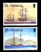 Изображение Святой Елены о-в 1998 г. SC# 718,723 • 20 и 50 p. • Знаменитые корабли • Used XF ( кат.- $3 )