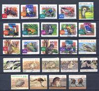 Изображение Австралия • Фауна Австралии (лот 24 марки) • птицы и дикие животные • Used VF