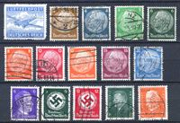 Изображение Германия 3-й рейх • 193х - 194х гг. • лот 15 разных старых марок • Used VF