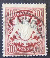 Image de Бавария 1881 г. Mi# 49 • 10 пф. • Герб Баварии. • Used XF