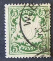 Image de Бавария 1890 г. Mi# 61 • 5 пф. • Герб Баварии. • Used XF