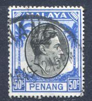 Image de Малайя • Пенанг 1949-52 гг. Gb# 19 • 50 c. • Георг VI • стандарт • Used XF