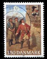 "Image de Дания 1990 г. SC# 928 • 3.50 kr. • 300 лет со дня рождения адмирала Педера Турденшёльда • картина ""Адмирал"" • Used XF"
