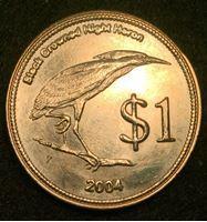 Image de Кокосовые острова 2004 г. • 1 доллар • птица • пальма • регулярный выпуск • BU