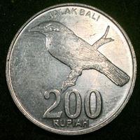 Image de Индонезия 2003 г. KM# 66 • 200 рупий • балийская сойка • регулярный выпуск • BU ( кат.- $1,75 )