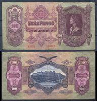 Bild von Венгрия 1930 г. P# 98 • 100 пенгё • король Матиас • регулярный выпуск • VF